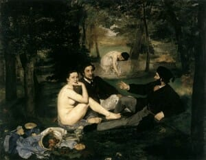 Le Déjeuner sur l'herbe (English: The Luncheon on the Grass) by Edouard Manet, 1862-63