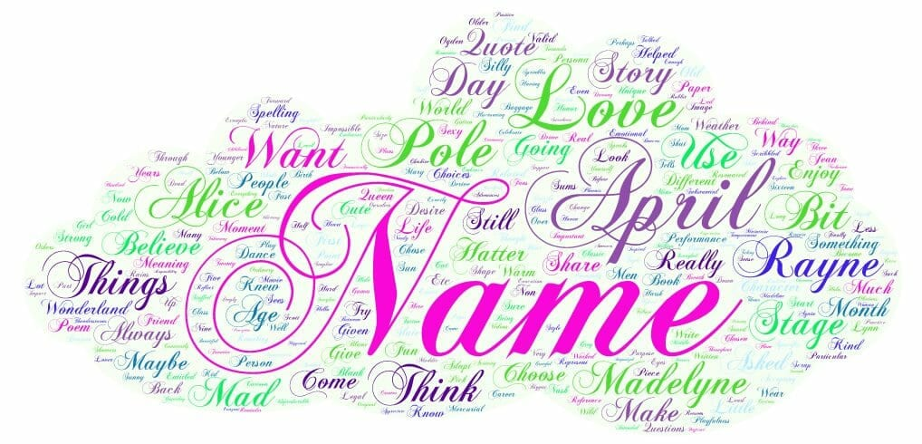 What's In A Stage Name? By April Rayne