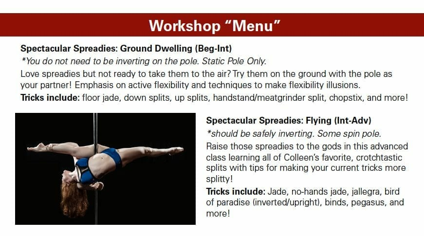 Becoming A Touring Pole Star: Step 1, Create Your Menu
