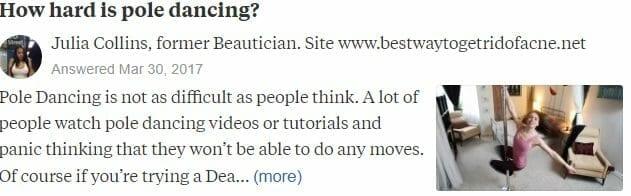 Quora How Hard is Pole Dancing?