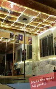 Home pole space