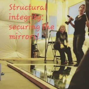 securing mirrors to walls
